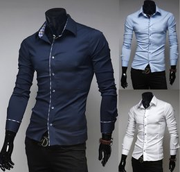 Wholesale New Italian Dress Shirts Men S Blouses Long Sleeve Shirt Slim Fit Chemise Homme Men S Shirts High Quality
