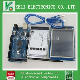 Wholesale pair quot TFT LCD Touch TFT inch Shield Mega R3 with usb cable for Arduino kit