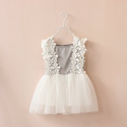 summer baby girl pricess dress lace flower gauze dress baby suspenders princess dress tulle baby dresses free shipping