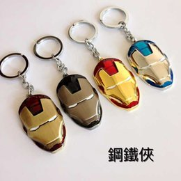 Wholesale High quality alloys Marvel Super Hero The Avengers to Iron Man Mask Metal Keychain Pendant Key Chains