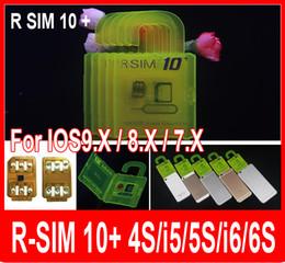 wholesale R-SIM 10+ RSIM 10+ Rsim10+ r sim 10plus iphone unlock card for Iphone 6s 6 5s 5 IOS9.1 IOS9.0 IOS7.X3G 4G CDMA FOR sprint AU SB
