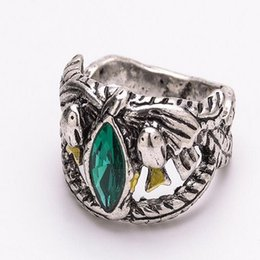Wholesale 2016 The Lord of the rings aragorn ring Sapphire mosaic sterling silver rings anillos anel feminino anillos de plata ZJ y