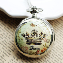 Wholesale Manufacturers selling gift shop selling large crown enamel table built in large mirror Pocket Watch