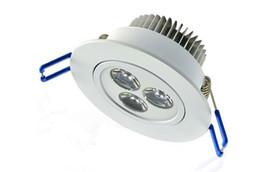 White 3W LED Recessed Ceiling Spot Light Lamparas 3x1Watt Downlight Lamp Dimmable Non-dimmable 220V 110V 85-265V AC Warm white Natural white