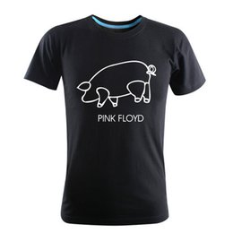 Wholesale Fashion EDM PINK FLOYD Printed T-Shirts Summer Fall personality male short sleeve shirt hip hop street 5 colors 100% cotton