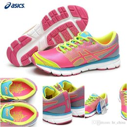 Wholesale Brand New Asics Cushion Clever Sports Running Shoes For Women Cheap Lightweight Racing Trainer Green Pink Sneakers Size