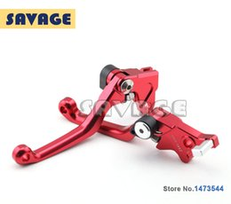 Wholesale Motorcycle Dirt Bike CNC Pivot Brake Clutch Levers For HONDA CRM250R AR XR400 MOTARD Red