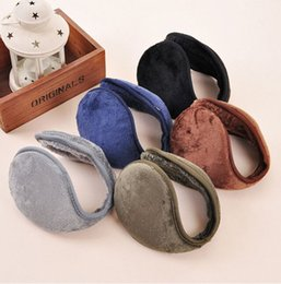 Wholesale-2015 Women Men Winter Ear Warmers Behind the Ear Style Fleece Muffs