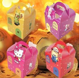 Wholesale 10pcs new Portable cartoon Christmas Apple box Fold the apple box fashion frozen Gift box