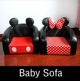 Wholesale Cute Cartoon Mickey Baby Sofa Chair Novelty Seating Bag Kids Bedroom Furniture Chairs For Children Best Gifts
