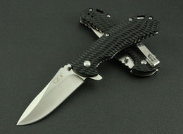 Wholesale China made ZT Pocket folding knife Cr15Mov HRC Blade Drop point G Hanlde Outdoor camping hiking Tactical folding knife knives