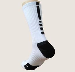 Wholesale-Free Shipping Men Socks Athletic Sports men basketball Socks Breast Cancer long elite sock