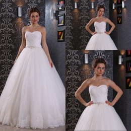 Most Popular A Line Sweetheart Floor Length Ivory Organza Lace Wedding Dresses With Beaded Lace Up Bridal Videos Wedding Gowns