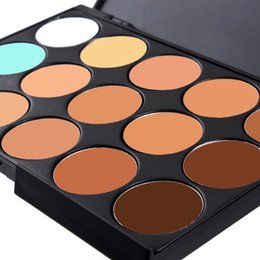 Wholesale-New Professional 15 Colors Camouflage Concealer Make Up Cream Palette E5MI