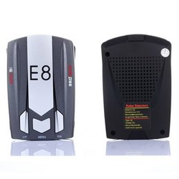 Wholesale Best Gift Car Radar Detector E8 Band Degree quot LED with Laser Russian English Voice Warning Vehicle Speed Control Detector E dog