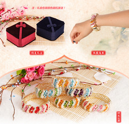 Wholesale Vogue of new fund of cloisonne bracelet Hollow out wide popular crystal shell element version of women s bracelet beautiful box