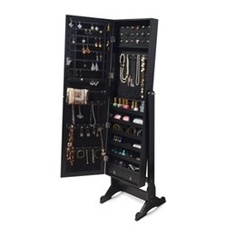 Wholesale Mirrored Jewelry Armoire Storage Stand with Drawers Gift for Girl Stock in USA