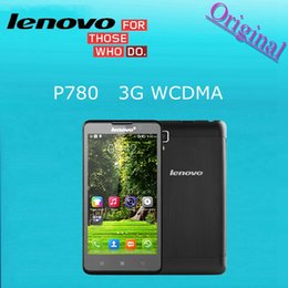Wholesale Original Lenovo P780 inch android phones MTK6589 Quad Core GHz mAh battery MP Camera Dual SIM