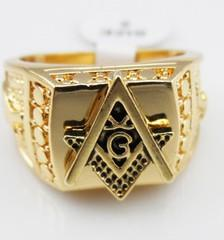 chaming yellow gold carvd A men women ring all size (88)