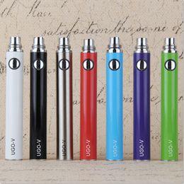 UGO-V Mirco USB Passthrough 650mah 900mah Battery ecigs UGO V Batteries E Cigarettes fit eGo evod CE3 CE4 MT3 H2 Vaporizer vape pen