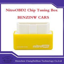 Wholesale 2016 Hot Selling NitroOBD2 elm327 OBD2 for Benzine Cars Performance Chip Tuning Box Car Fuel Saver Nitro obd2 More Power More Torque