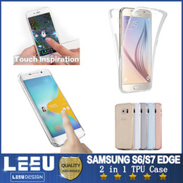 Wholesale Samsung Galaxy S8 S7edge Full Body Soft TPU Case Ultra Thin Clear Gel Silicon Front Back Cover Screen for A5 S6 edge Plus Note5
