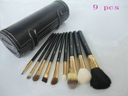 New professional Brand makeup brush set, 9pcs, goat hair& horse hair& fibre, beauty tools !!Free shipping