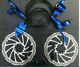 Wholesale CSC MTB Hydraulic Disc Brake Set Bicycle Oil Press Disc Brake Group MTB Hydraulic Colors Disc Brake mm CNC processing