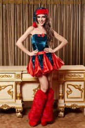 Wholesale Hot Models Clothing Cosplay Costumes Adult princess costumes Sexy Christmas dress can also be used for performing personal affair appeal