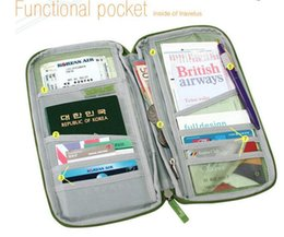 Multicolor Travel Ticket Documents Folder Passport Package Card Packages Multifunctional Travel Long Pouch Wallet 10pcs lot Free Shipping
