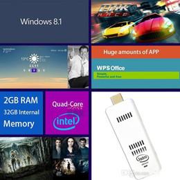 Wholesale 2015 New Mini PC Intel Windows OS Computer Mini PC Stick HDMI WiFi Bluetooth Compute Stick Pocket Portable PC GB GB