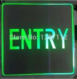 Wholesale Entry Aluminium led green light Sign entry sign light color can be customized