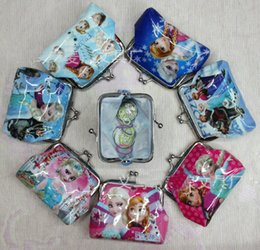 Girls 3D Cartoon Frozen Coin Purse with iron button Anna Elsa Olaf shell bag wallet Purses children child Gifts For Holidays Christmas gift