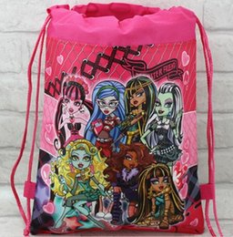 Wholesale 12 child children s girl s backpack monster high Drawstring bag for child school bag waterproof camping casual bags for kids