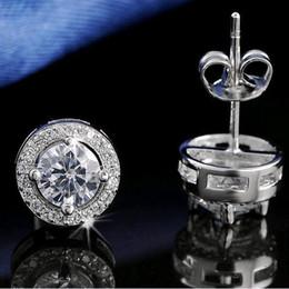 Wholesale DALI S925 Stamed Silver Earring Stud ct CZ Zircon Crystal S925 Jewelry Earring DE104