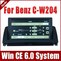 Wholesale 8 quot Auto Multimedia Car DVD Player for Mercedes Benz C Class W204 with GPS Navigation Radio TV USB SD AUX iPod Audio Stereo SatNav