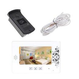 Wholesale Intercom Doorbell for Villa Apartment Home Unlock Function Campainha Sem Fio Porta quot TFT LCD Color Video Door Phone Doorphone