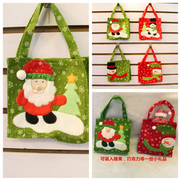 Wholesale Christmas Decorations Wholesale Online Sale - 4Styles Santa Merry Christmas Decoration Candy Sweet Apple Bag Gift Bags Gift Wrap Party Decoration Top Sale Online Cheap Sale