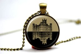 Wholesale 10pcs Downton Abbey Inspired Necklace Glass Cabochon Necklace