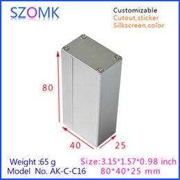 10 pcs, electrical new arrival aluminum boxes (10 pcs) 25*40*80mm electronic case amplifier enclosure, aluminum junction box AK-C-C16