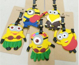 Wholesale NEW Hot fashion Cartoon movie LUGGAGE TAG lovely Cartoon Minions style Travel bag tag bag tag Toys best gifts cc99