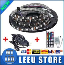 Wholesale manufacturer sale Waterproof RGB Black PCB led m M LED SMD IP65 DC V Flexible Light Strip key v A power