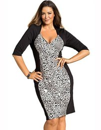 XXL Dresses Hot Sexy Women Deep-V Sexy Gray Dress Leopard Printing Plus Size 2XL Party Dress W846083