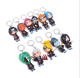 Wholesale 6 set PVC CM inch Naruto Akatsuki key chain Action figure movies doll Model Children s Toys and Gifts LY