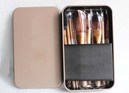Wholesale Branded Set Make Up Cosmetic Brush Kit Makeup Brushes Pink iron Case Toiletry beauty appliances makeup brush DHL FREE