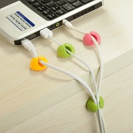 Wholesale cable clips nice Wire Cord Cable Drop Cable Desktop Cable Clips Organizer ClipTies Management Mix colors