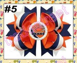 livraison gratuite 50pcs 5.5 quot; Couches Bouchon de la Bouteille de Cheveux Bow fille populaire sport arcs de football des arcs de cheveux clips de mode accessoires de cheveux à partir de fille accessoires pour cheveux clips fabricateur