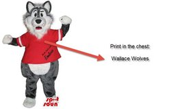 Customized wolf Mascot Costume + LOGO Adult size,free shipping