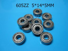 Wholesale 605ZZ bearings metal Sealed Miniature Mini Bearing chrome steel bearing Z ZZ mm