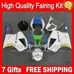 7gifts+Bodywork For HONDA VTR1000 Blue white 00-07 VTR 1000 RTV1000 46LC16 VTR1000R 00 01 02 03 White 04 05 06 07 RC51 SP1 SP2 Fairing Kit